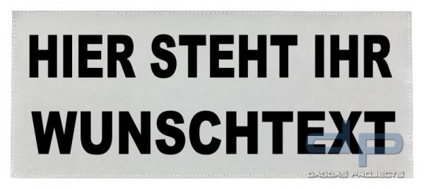 Reflexschild - matt,Klett - 42x16cm - silber - Wunschtext
