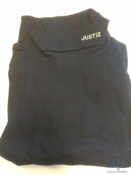 Polizei Rolli schwarz 2 Lagen Funktionsrolli mit Stick Justiz Gr. XXL