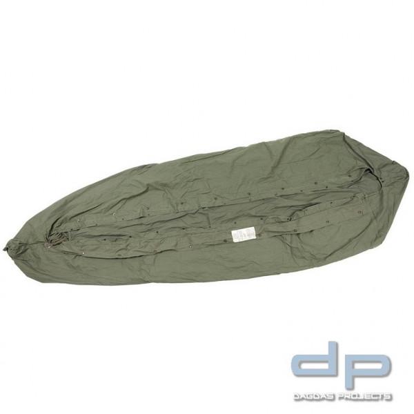 US Schlafsacküberzug, M-1945, oliv, wasserabweisend, gebraucht