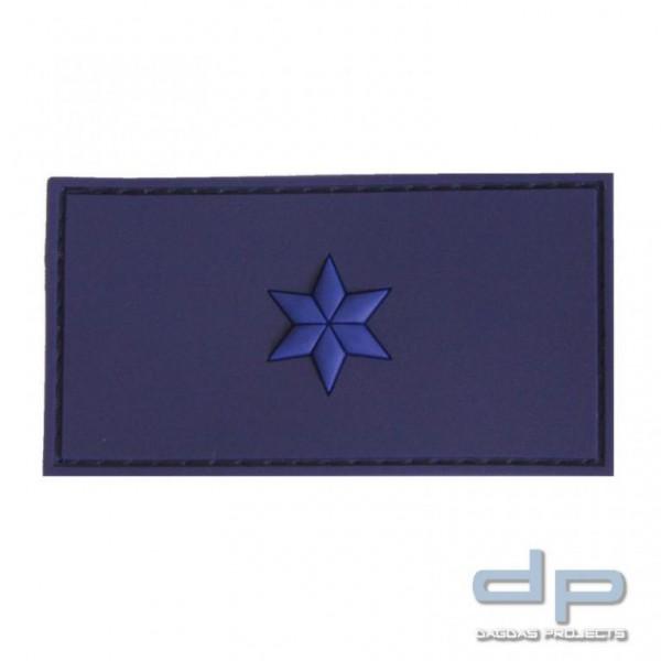 Klettabzeichen POLIZEIMEISTERANWÄRTER 75 x 40 mm, blau / 1 blauer Stern