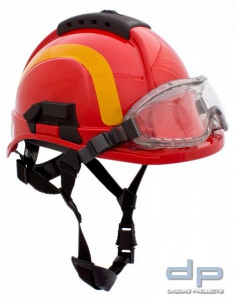 Feuerwehrhelm TYTAN HOT 101 inkl. Nomex Nackenschutz Farbe: Rot