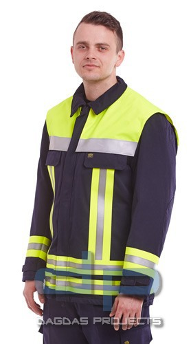 Einsatzjacke Safety Oberstoff 100% Baumwolle schwerentflammbar
