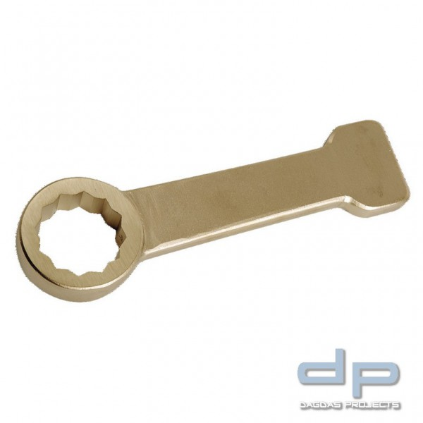 Ringschlagschlüssel funkenfrei, 12-kant, ähnlich DIN 7444, 47 mm