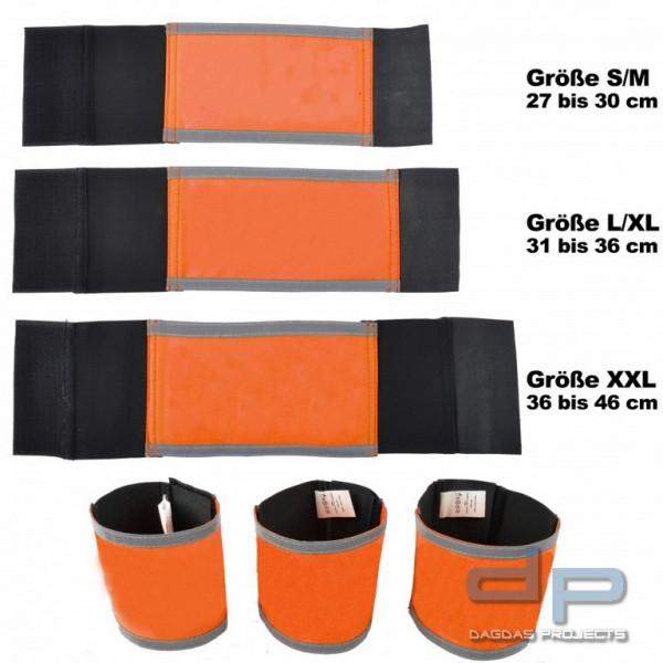 COP® Armbinde orange mit Reflexstreifen oben/unten, unbedruckt Größe: L
