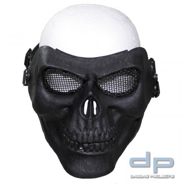 """Gittermaske, """"Totenkopf"""", schwarz, Deko"""