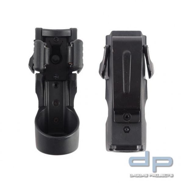 ESP® Taschenlampenholster LHU64, Metall Gürtelclip für Gürtel bis 50 mm