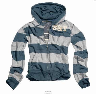 Stripe Hoodi Zipper Gr. XL