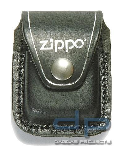 Zippo Etui, schwarz, mit Clip